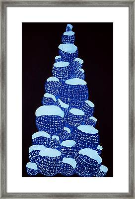 Christmas Tree Light Up Framed Print by Nicole  Cris