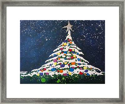 Christmas Tree Framed Print by Paula Weber