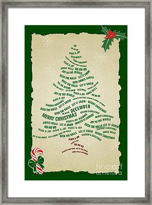 Christmas Tree Thoughts Framed Print by Bedros Awak