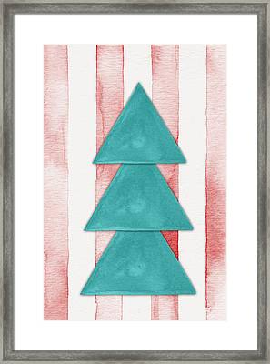 Christmas Tree Watercolor Framed Print