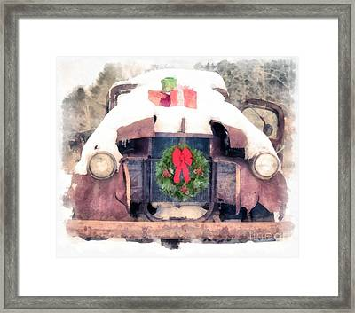 Christmas Truck Framed Print by Edward Fielding