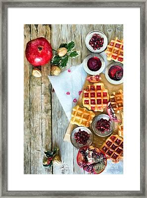 Christmas Waffle Framed Print by Ezeepics