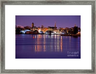 Christmas Waterfront Framed Print by Butch Lombardi