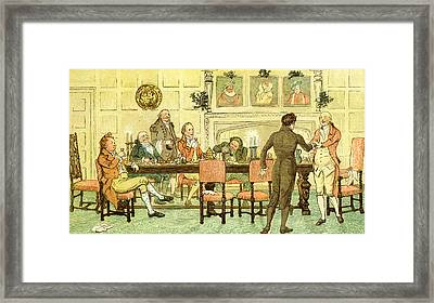 Christmas Welcome From Squire Framed Print