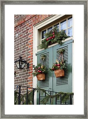 Christmas Welcome Framed Print