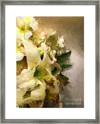 Christmas White Flowers Framed Print