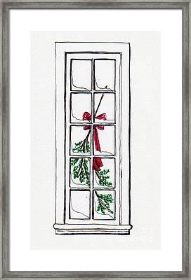Christmas Window Framed Print