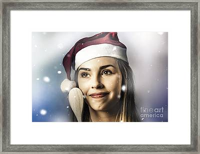 Christmas Woman Cooking Up Winter Food Idea Framed Print by Jorgo Photography - Wall Art Gallery