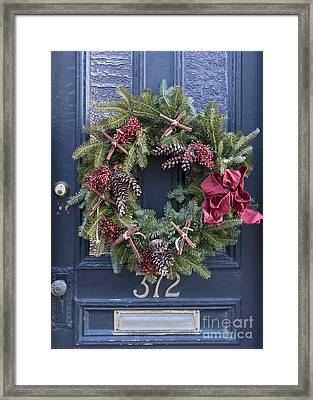Christmas Wreath Framed Print by Edward Fielding