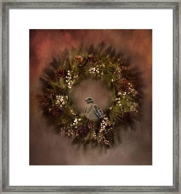 Christmas Wreath Framed Print by Kim Hojnacki