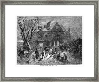 Christmas: Yule Log Framed Print