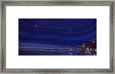 Christmastime In Prairie Town Framed Print by Scott Kirby
