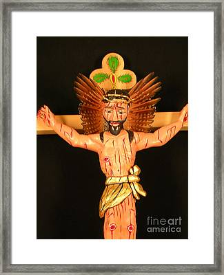 Christo Crucificado Framed Print by George Chacon