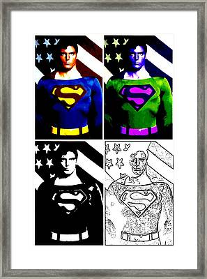 Christopher Reeve - Our Man Of Steel 1952 To 2004 Framed Print by Saad Hasnain