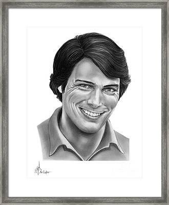 Christopher Reeve Framed Print by Murphy Elliott