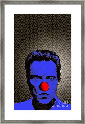 Christopher Walken 1 Framed Print by Jason Tricktop Matthews