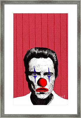 Christopher Walken 2 Framed Print by Jason Tricktop Matthews