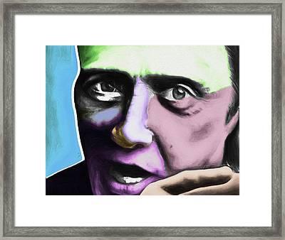 Christopher Walken By Nixo Framed Print by Nicholas Nixo