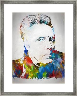 Christopher Walken Framed Print by Dan Sproul