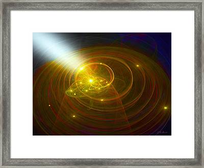 Christopher's Vision Of Golden Light Framed Print