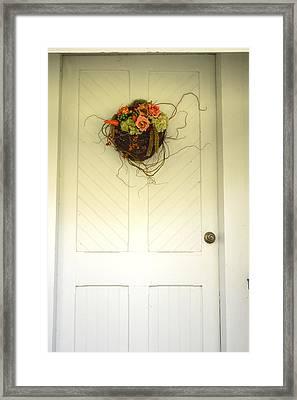 Christ's Church Side Door Framed Print by Linda Covino