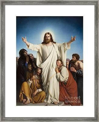 Christus Consolator Framed Print by MotionAge Designs
