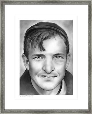 Christy Mathewson Framed Print by Greg Joens