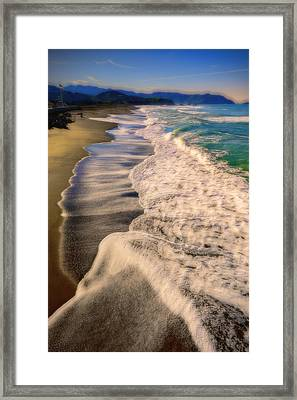 Chromatic Aberration At The Beach Framed Print
