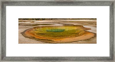 Chromatic Pool At Yellowstone Framed Print by John Higby