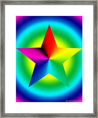 Chromatic Star With Ring Gradient Framed Print by Eric Edelman