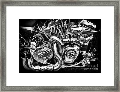 Chrome And Skulls Framed Print by Tim Gainey