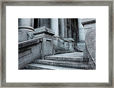 Framed Print featuring the photograph Chrome Balustrade by Stephen Mitchell
