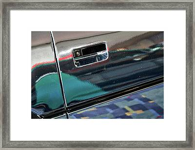 Chrome Car Reflections Abstract Framed Print