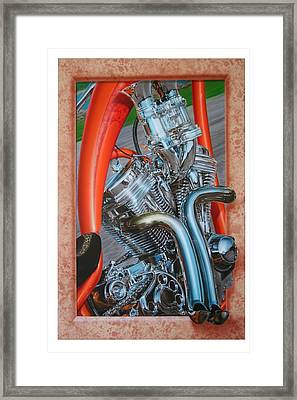 Chrome Chopper Framed Print by Terry Stephens