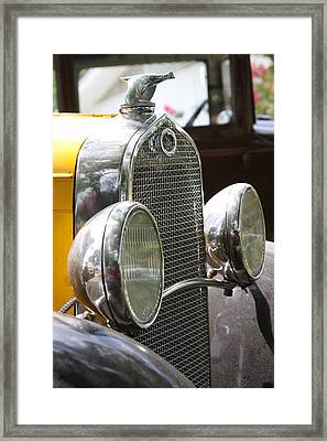 Chrome Grill Framed Print by Jonathan Kotinek