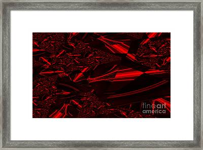 Chrome In Red Framed Print by Clayton Bruster