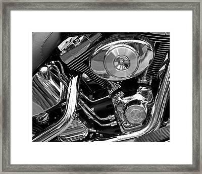 Chrome Framed Print by Lynda Lehmann