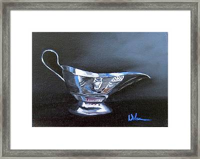 Chrome Reflections Framed Print by LaVonne Hand