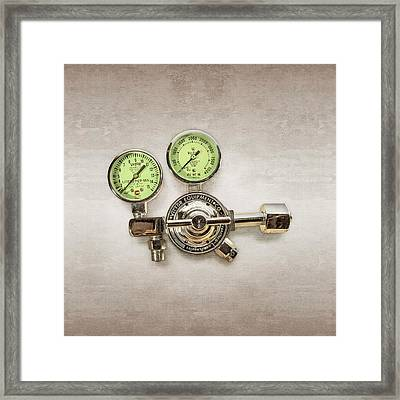 Chrome Regulator Gauges Framed Print