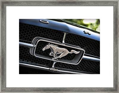 Chrome Stallion - Ford Mustang Framed Print by Gordon Dean II