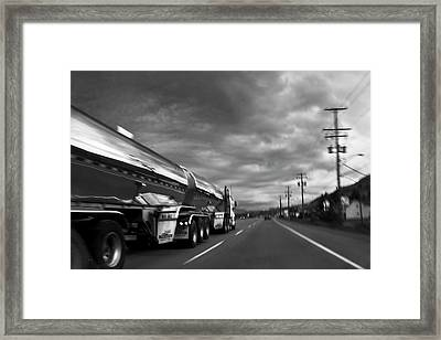 Chrome Tanker Framed Print by Theresa Tahara