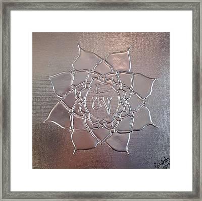 Chromed Lotus Framed Print by Carole Ray