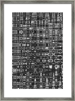 Framed Print featuring the photograph Chromosome 22 Bw by Diane E Berry