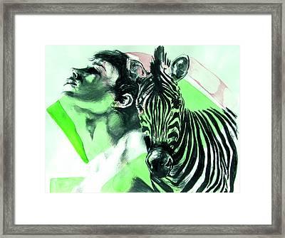 Chronickles Of Zebra Boy   Framed Print by Rene Capone