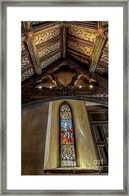 Church Window Framed Print by Adrian Evans