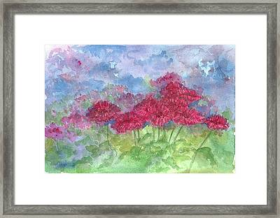 Framed Print featuring the painting Chrysanthemums by Cathie Richardson