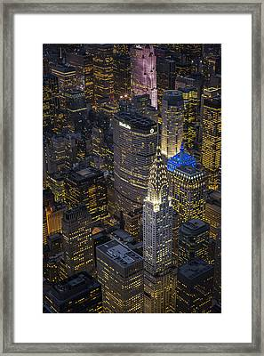Chrysler Building Aerial View Framed Print by Susan Candelario