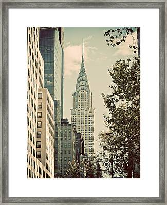Chrysler Building Framed Print by Darren Martin