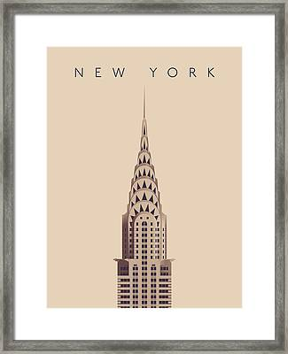 Chrysler Building - Vintage Framed Print