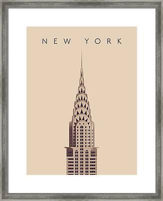 Chrysler Building - Vintage Framed Print